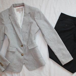 BANANA REPUBLIC Size 10 Long Pant Suit Black Gray